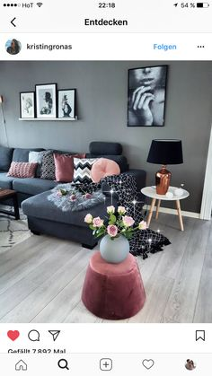 30 affordable apartment living room design ideas on a budget 00005 - poserforum Cozy Living Rooms, Living Room Grey, Living Room Sofa, Home Living Room, Apartment Living, Living Room Furniture, Blue Furniture, Living Room Decor Colors Grey, Couch Furniture