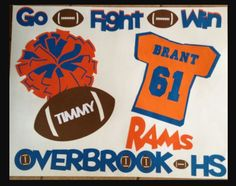 posters for the players are a great way to boost spirit on game day! Football Spirit, Football Signs, Football Crafts, Football Cheer, Youth Football, Football Posters, Football Season, Homecoming Poster Ideas, Homecoming Signs