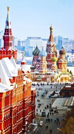 St. Basil, in the heart of Russia's Capital, Moscow  http://www.kensingtontours.com/tours/europe/russia/russia-highlights