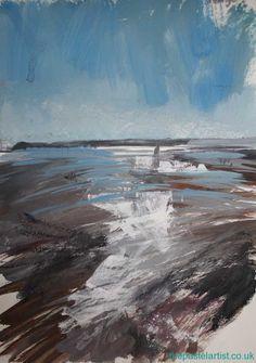 Sandbanks sketch Soft Pastels, Pet Portraits, Landscape Paintings, Sailing, Sketch, Waves, Boat, Illustration, Artist