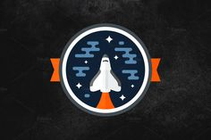 Space shuttle vector badge graphic design - by Mike McDonald via Creative Market