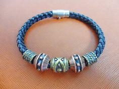 Bangle leather bracelet buckle bracelet men by braceletbanglecase, $7.50