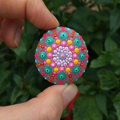 Mandala Stone - Original Hand-painted Ocean Pebble