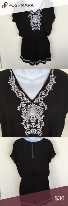 Michael by Michael Kors Embroidered Romper Excellent condition embroidered romper.  Elastic waist with tie.  Smoke free, pet free home MICHAEL Michael Kors Pants Jumpsuits & Rompers