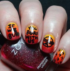 The Hunger Games / Mockingjay Nail Art