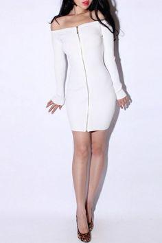 Strapless Rib Knit Dress OASAP.com