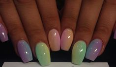 Rainbow Ombré Nails