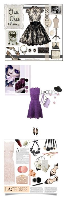 """""""Winners for Pretty Lace Dress """" by polyvore ❤ liked on Polyvore featuring Alice + Olivia, Jimmy Choo, Diane Von Furstenberg, SHOUROUK, Givenchy, Dot & Bo, Universal Lighting and Decor, Safavieh, Tiffany & Co. and paris"""