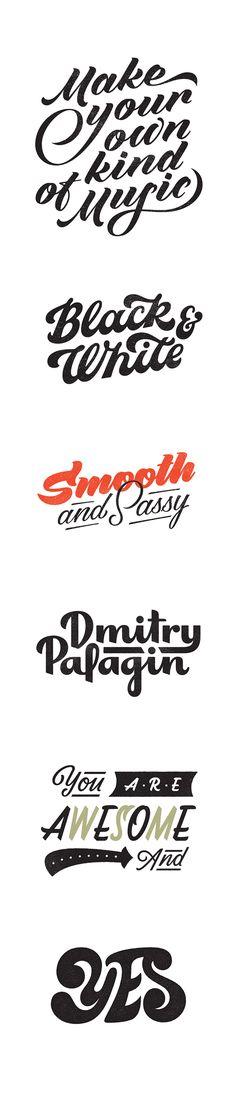 Black&White lettering by Olga Vasik