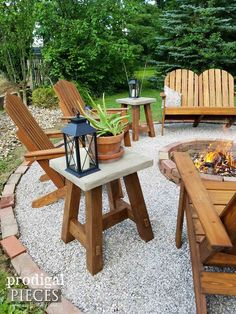 DIY Outdoor Concrete Table for Patio or Deck by Prodigal Pieces Diy Fire Pit, Fire Pit Backyard, Backyard Patio, Fire Pits, Fire Pit Decor, Backyard Retreat, Diy Patio, Outdoor Fire, Outdoor Tables