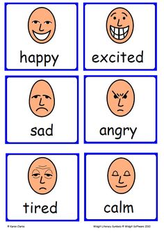 Widgit Emotions flashcards - lots of useful symbols!