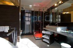 Il bagno di una suite dell'hotel Concordia