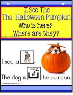 Build A Sentence with Pictures Interactive -I See The HALLOWEEN PUMPKIN!Forming sentences for our young learners or those with autism, can be challenging. Using real-life pictures for easy recognition of elementary age objects associated with Halloween, students will love learning to read and form sentences.