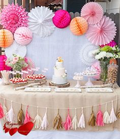 Baby Shower Dessert Table by Petite Party Studio - love this girly take on a woodland animals-inspired nursery!Foxy Baby Shower Dessert Table by Petite Party Studio - love this girly take on a woodland animals-inspired nursery! Deco Baby Shower, Shower Party, Baby Shower Parties, Baby Showers, Baby Shower Table, Shower Cake, Bridal Shower, Party Decoration, Birthday Decorations