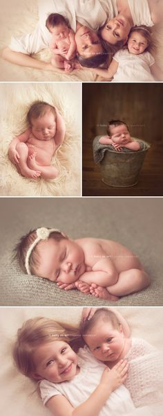Newborn baby with family photography