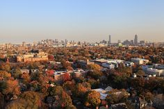 View of #Boston from William James on Harvard campus. DiscoverHarvard.com