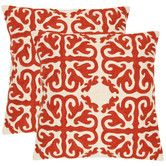 Found it at Wayfair - Caspar Decorative Pillows in White and Red (Set of 2)