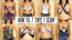 summer tops with scarves 7 styles thrifted aliexpress quick easy helpful scarf top crop top handkerchief top
