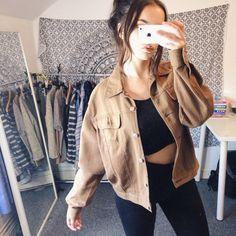 2147199e788f Tan corduroy jacket Corduroy Jacket, Denim Fashion, Velvet Jacket, Jeans  Fashion, Corduroy. Depop