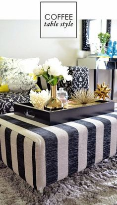 ottoman coffee tables & matching trays | ottomans, trays and coffee