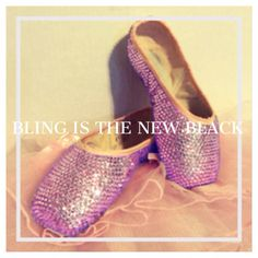 Pink Swarovski pointe shoes! By Blingisthenewblack.com
