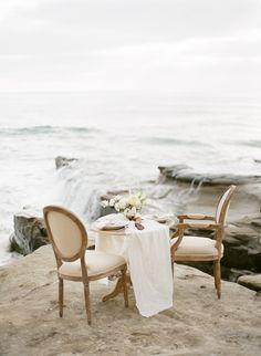 Neutral Seaside Wedding Inspiration by @katiegrantphoto via Wedding Sparrow Blog http://weddingsparrow.co.uk/2014/07/09/found-in-the-sea-beach-wedding-inspiration/