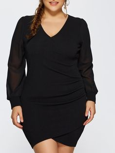Autumn Ruched Plus Size Long Sleeve Dress