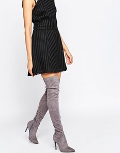 Kendall and Kylie Gray Thigh-High Boots ($245)