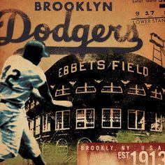 Brooklyn Dodgers by geministudio