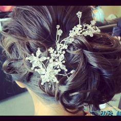 www.harpier.com.au  #bridalhair #bridalupstyle #curls #Bridalcomb #weddinghair  Enquire now for wedding Hair and Makeup!