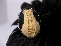 Santa Muerte Skeleton Ring by FashionCrashJewelry on Etsy