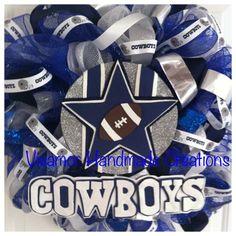 Dallas Cowboys Football Wreath NFL by Vivamor on Etsy, $135.00