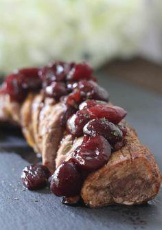 #paleomg #paleo Cherry Shallot Pork Tenderloin