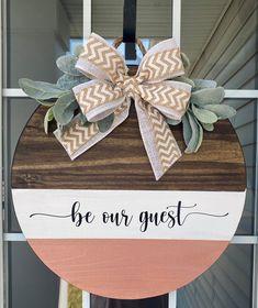 Wooden Door Signs, Welcome Signs Front Door, Front Door Decor, Custom Wooden Signs, Custom Door Hangers, Wooden Door Hangers, Home Crafts, Diy Crafts, Decor Crafts