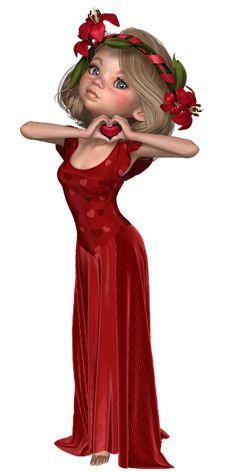 Radueriels: Radueriels ©Pu Only Beautiful Love Images, Cute Love Gif, Beautiful Dolls, Pretty Art, Cute Art, People With Big Eyes, Big Eyes Artist, Cartoon Girl Images, Animated Love Images