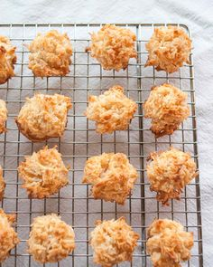How to Make the Easiest Coconut Macaroons - make them WAY smaller than suggested. Maybe dip in chocoloate or add flavor?