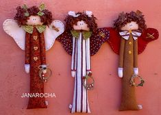 ANGELS DOMINIQUE by FEITO POR JANAROCHA BLOG- www.artjanarocha.blogspo, via Flickr