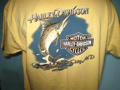 Harley-Davidson Yellow T-Shirt XL Ocean City, MD