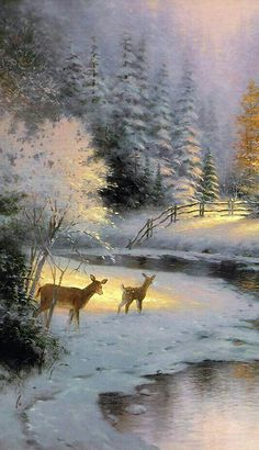 Ideas Winter Landscape Painting Ideas For 2019 Winter Images, Winter Pictures, Nature Pictures, Watercolor Landscape, Landscape Art, Landscape Paintings, Beautiful Paintings, Beautiful Landscapes, Winter Szenen