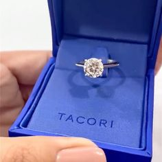 "All eyes on our exceptionally beautiful solitaire engagement ring, designed by our Founder, Haig Tacorian himself! Double tap and save if this four-prong round solitaire engagement ring is worthy to celebrate your legacy of love! And watch all the way to the end to see this ""on the hand!"" .   Featured style: HT2671RD95  #solitaire #solitairering #Tacori #engagementring #DreamRing #TacoriRing #BlueBox"