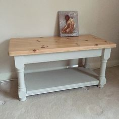 Refurbished Coffee Tables Pine Table Vintage Farmhouse Country Living Room Green First Home Olive Cottage Lounge
