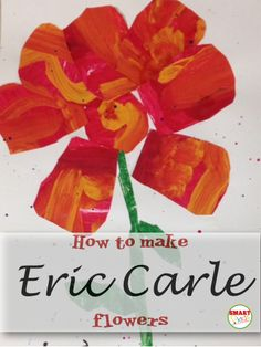"""Read the students the book """"The Tiny Seed"""" then have them make their own Eric Carle flowers. Eric Carle, Spring Activities, Art Activities, Sequencing Activities, Kindergarten Art, Preschool Crafts, Preschool Literacy, Preschool Ideas, Toddler Crafts"""