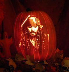 Capt. Jack Sparrow from Pirates of the Caribbean  www.thepumpkinreaper.com