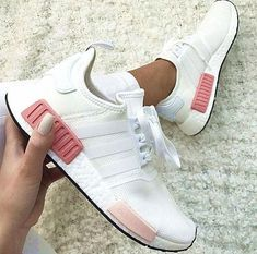 """simpleclothesv : """"Adidas"""" NMD Fashion Sneakers Trending Running Sports Shoes Whtie-pink from Simpleclothesv.simpleclothesv : """"Adidas"""" NMD Fashion Sneakers Trending Running Sports Shoes Whtie-pink from Simpleclothesv. Moda Sneakers, Best Sneakers, Sneakers Fashion, Fashion Shoes, Adidas Fashion, Pink Sneakers, Teen Fashion, Pink Fashion, Leather Sneakers"""