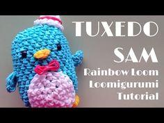 ▶ Rainbow Loom Loomigurumi TUXEDO SAM Sanrio Penguin Tutorial