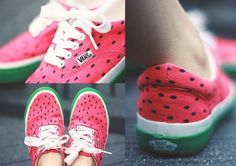 Watermelon vans!! One of my friends have these and they are sooooo cute!! 0.0