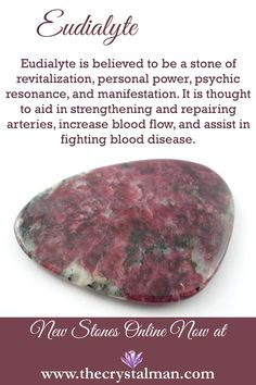 Eudialyte ~ Revitalization-Personal Power-Psychic Resonance-Manifestation-Arteries-Blood Flow-Blood Disease Shop new crystals online now at The Crystal Man!