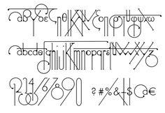 Futuristic typeface echoes art nouveau designs #typography