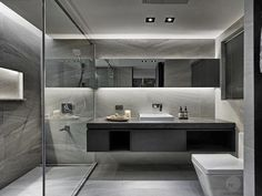Modern Linear Design Bathroom. Interior Ideas. Interiors. Idea arredo bagno moderno. Home Design.