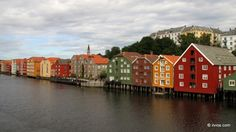 Houses like from Lego - Trondheim, Norway